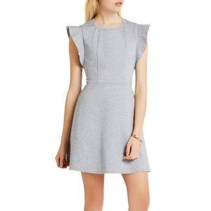 Flutter Sleeve Dress- Grey